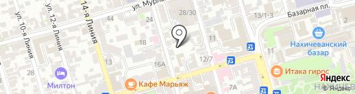 Фенестра на карте Ростова-на-Дону