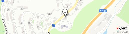 На Вишневой на карте Сочи