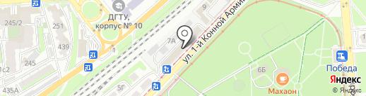 Цех памятников на карте Ростова-на-Дону