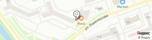 Магазин автотоваров на карте Северодвинска