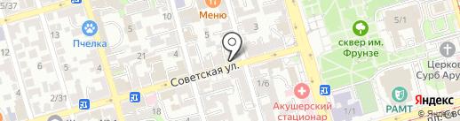 Магазин нижнего белья и купальников на карте Ростова-на-Дону