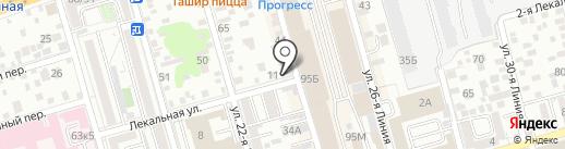Национальный союз организация в области обеспечения пожарной безопасности по Южному федеральному округу на карте Ростова-на-Дону