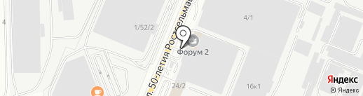 Гранит на карте Ростова-на-Дону
