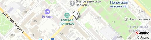 Магазин постельных принадлежностей на карте Рязани