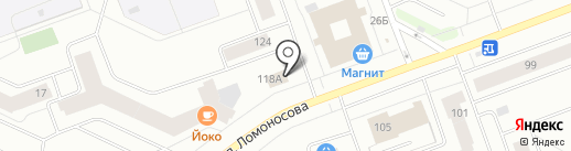 Гостовский на карте Северодвинска