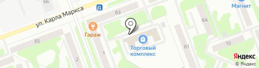 Оптово-розничный магазин товаров для спорта на карте Северодвинска