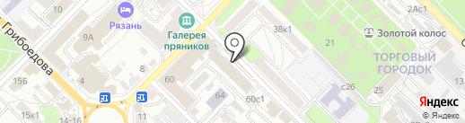 Беркут МГБ на карте Рязани