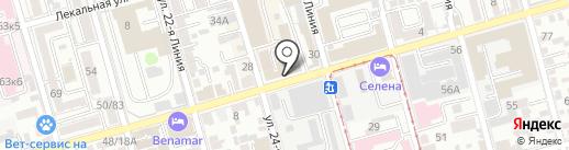 Пятерочка на карте Ростова-на-Дону