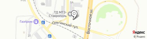 МТЗ-Ставрополь на карте Батайска