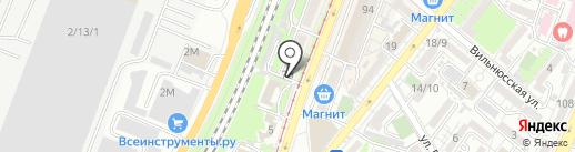 Пассаж на карте Ростова-на-Дону