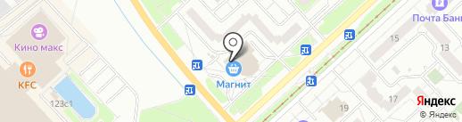 Магнит Косметик на карте Ярославля