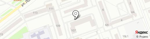 Дэнас на карте Северодвинска