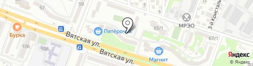 Карамелька на карте Ростова-на-Дону