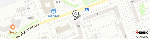 Карта Вин на карте Северодвинска