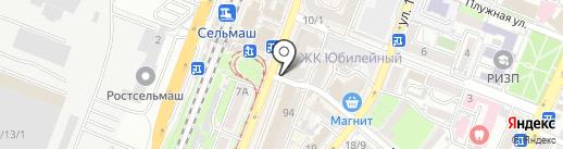 Пенная №1 на карте Ростова-на-Дону