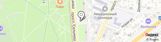 Третий тайм на карте Ростова-на-Дону