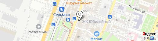 Циферблат на карте Ростова-на-Дону