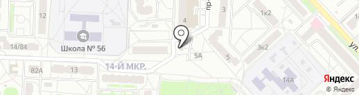 Элика на карте Ярославля