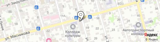 Аптека №1 на карте Ростова-на-Дону
