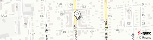 Парикмахерская на ул. Комарова на карте Батайска