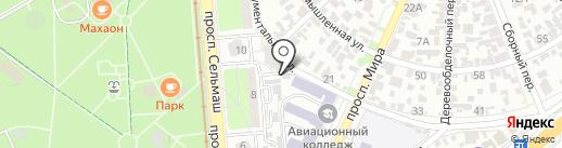 Хортич на карте Ростова-на-Дону