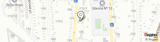 Милари на карте Батайска
