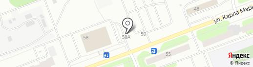 Шиномонтажная мастерская на ул. Карла Маркса на карте Северодвинска