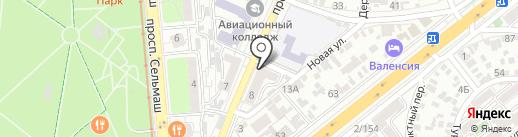 Ломбард Восточный на карте Ростова-на-Дону