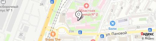 Областная клиническая больница №2 на карте Ростова-на-Дону