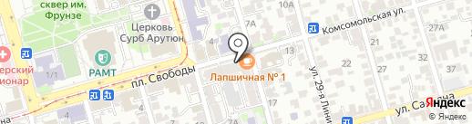 Банана Мама на карте Ростова-на-Дону
