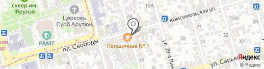 Бинбанк, ПАО на карте Ростова-на-Дону
