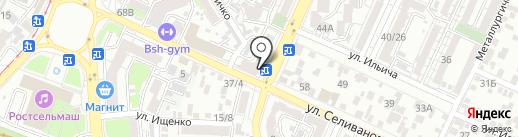 Управление ЖКХ Первомайского района, МКУ на карте Ростова-на-Дону