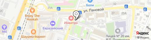 Пена на карте Ростова-на-Дону