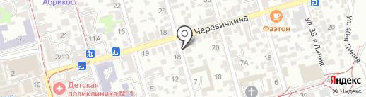 Стоматологический кабинет на карте Ростова-на-Дону