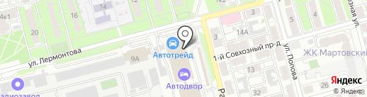 Колеса Даром на карте Рязани