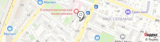 Городская поликлиника №1 на карте Ростова-на-Дону
