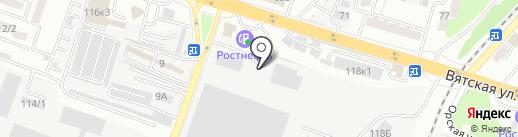 Промсельхозмаш на карте Ростова-на-Дону