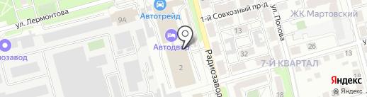 СТО №1 на карте Рязани