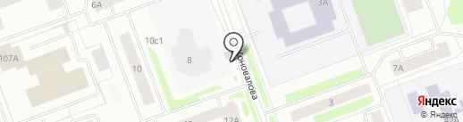 Продуктовый киоск на ул. Коновалова 12а/2 киоск на карте Северодвинска