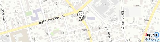По пути на карте Ростова-на-Дону
