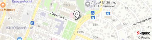 Эдельвейс на карте Ростова-на-Дону