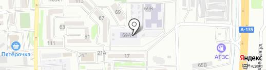 Средняя общеобразовательная школа №9 на карте Батайска