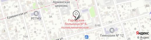 Дом на 35-й линии на карте Ростова-на-Дону