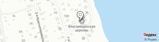 Благовещенская Церковь пос. Норское на карте Ярославля