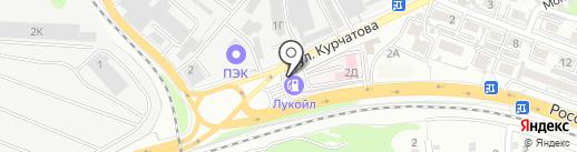 Эйвас на карте Ростова-на-Дону