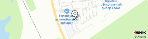 Автотонер на карте Рязани