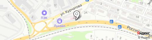 Авакар на карте Ростова-на-Дону