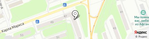 Официна на карте Северодвинска