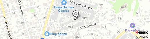 Мебель в Ростове на карте Ростова-на-Дону