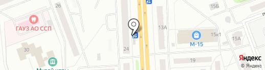 Продуктовый магазин на карте Северодвинска